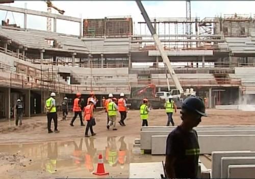 Un trabajador se accidentó en la obra de Antel Arena