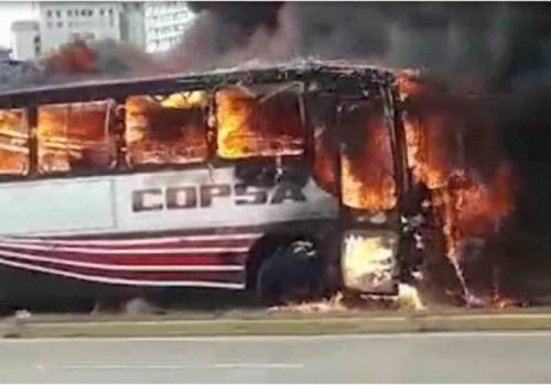 Se incendió ómnibus cerca de la terminal Río Branco