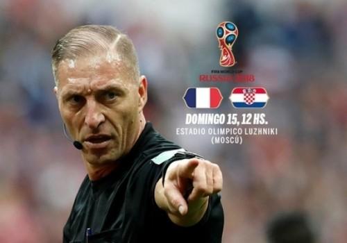 El argentino Néstor Pitana es el árbitro designado para la final