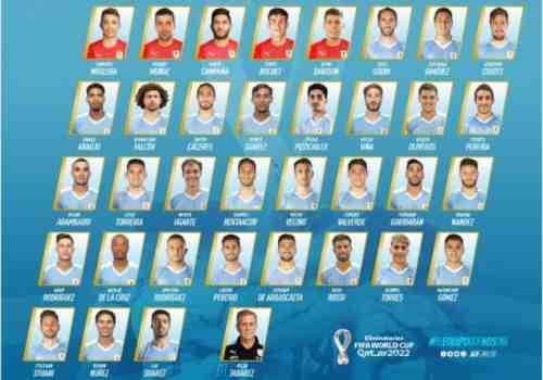 35 jugadores reservados de la selección de Uruguay