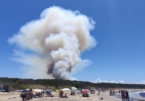 Fue controlado incendio en camping de Punta del Diablo
